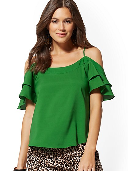 Cold-Shoulder Blouse - 7th Avenue - New York & Company