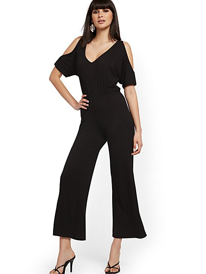 Cold-Shoulder Jumpsuit - NY&C Style System - New York & Company