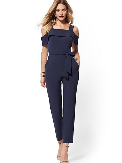 7ed4b864eef Cold-Shoulder Jumpsuit - New York   Company ...