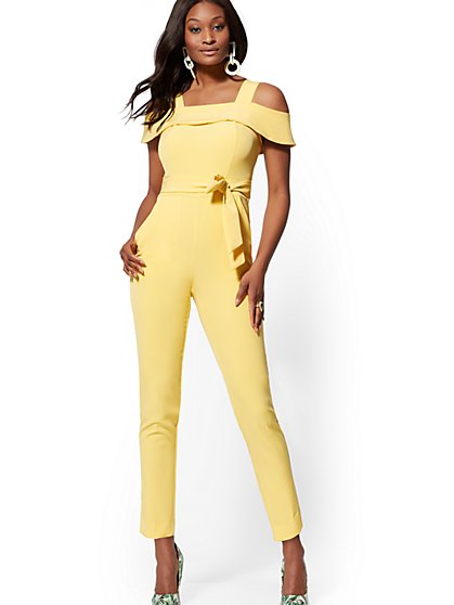 dca2eb747dfe Cold-Shoulder Jumpsuit - New York   Company ...