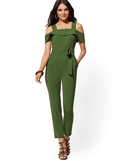f2eb0a7a273fe Cold-Shoulder Jumpsuit - New York & Company