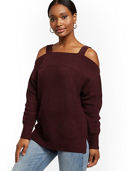 Cold-Shoulder Sweater - New York & Company