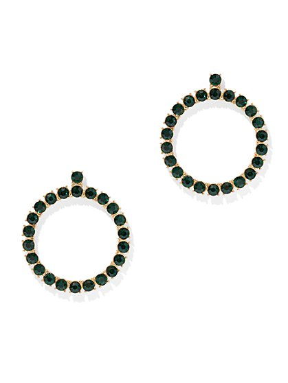 Color-Studded Circle Earring - New York & Company