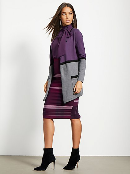 Colorblock Flyaway Cardigan - 7th Avenue - New York & Company