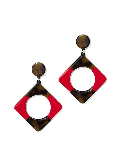 Colorblock Geo Drop Earring - New York & Company