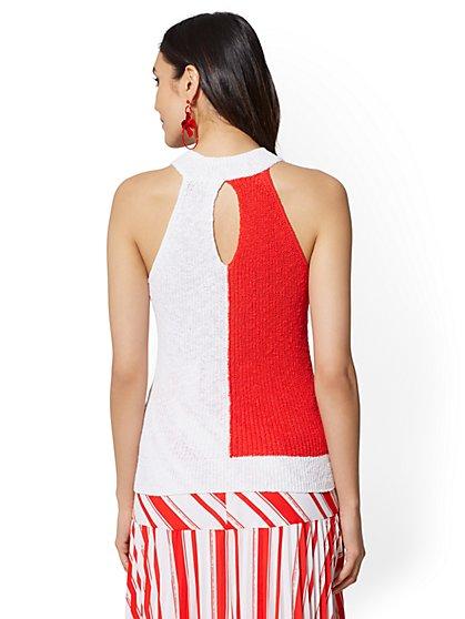 decbbc9dcd ... Colorblock Halter Sweater - New York   Company