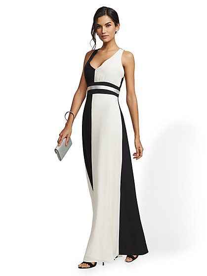 Colorblock Maxi Dress - New York & Company