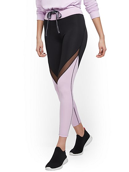 Colorblock Mesh-Inset Legging - Soho Street - New York & Company