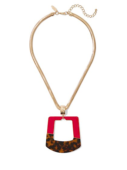 Colorblock Pendant Necklace - New York & Company