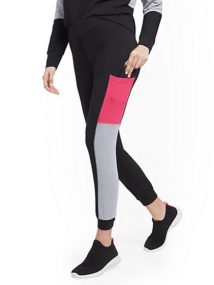 Colorblock Pocket Jogger Pant - Soho Street - New York & Company