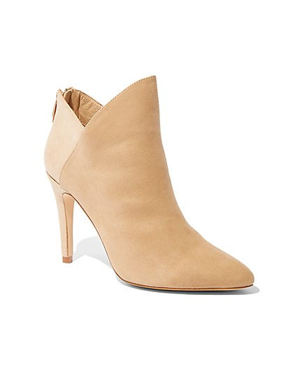 Colorblock Pointed-Toe Bootie - New York & Company