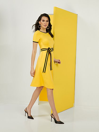 Colorblock Ponte Dress - Superflex - New York & Company