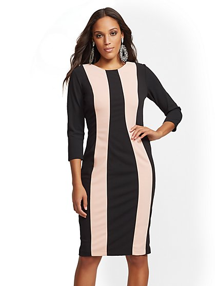 Colorblock Sheath Dress - New York & Company
