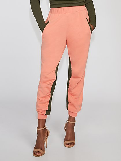 Colorblock Shirred Jogger Pant - Gabrielle Union Collection - New York & Company