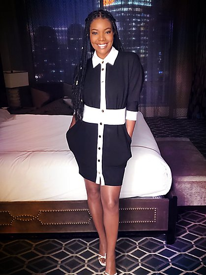 Colorblock Shirtdress - Gabrielle Union Collection - New York & Company