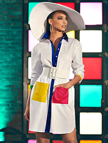 Colorblock Shirtdress - New York & Company