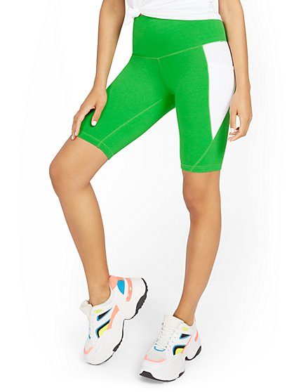 Colorblock Side-Pocket Bike Short - New York & Company