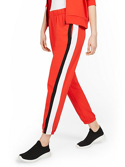 Colorblock Side-Stripe Jogger Pant - New York & Company