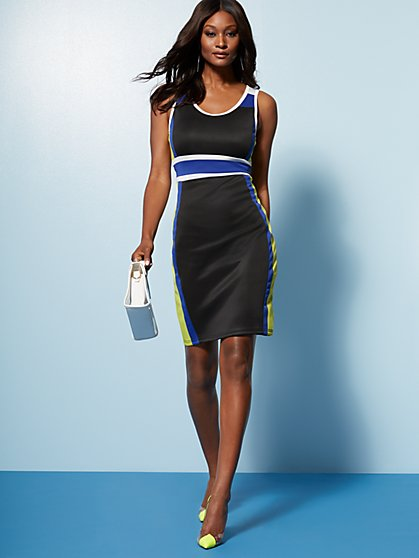 Colorblock Sleeveless Sheath Dress - New York & Company