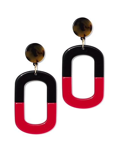 Colorblock Square Drop Earring - New York & Company