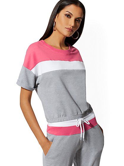 Colorblock Stripe Tee - Soho Street - New York & Company