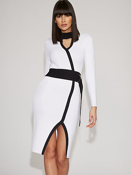 Colorblock Sweater Sheath Dress - Gabrielle Union Collection - New York & Company
