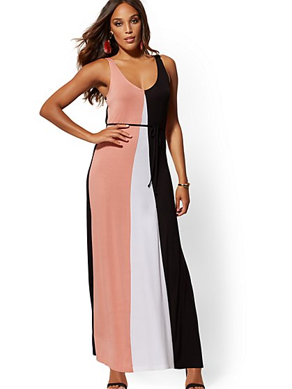 Colorblock Tank Maxi Dress - New York & Company