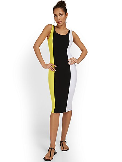Colorblock Tank Midi Dress - Everyday Collection - New York & Company