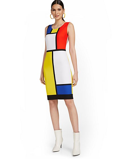 Colorblock Tank Sheath Dress - New York & Company