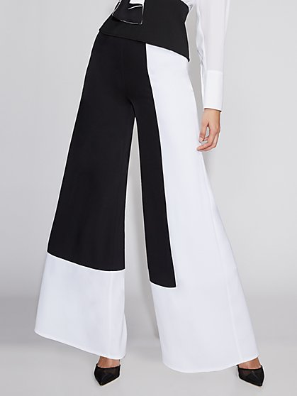 Colorblock Wide-Leg Pant - Gabrielle Union Collection - New York & Company