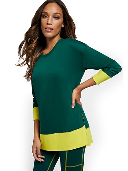 Colorblock Workout Tunic Top - New York & Company