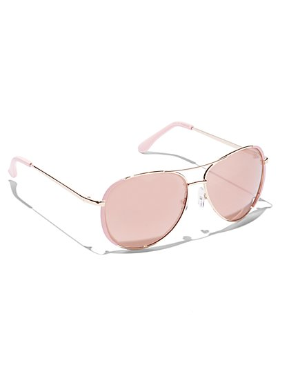 8fac0822a2482 Colored-Rim Aviator Sunglasses - New York   Company