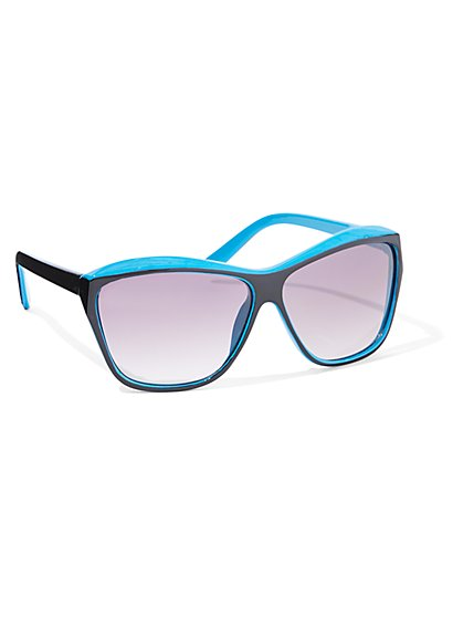Contrast-Frame Cat-Eye Sunglasses - New York & Company