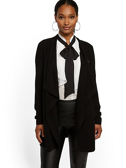 Convertible Button Flyaway Cardigan - 7th Avenue - New York & Company