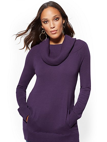 Convertible Cowl-Neck Sweater - New York & Company