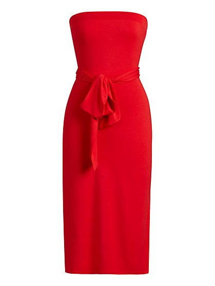 Convertible Strapless Dress - NY&C Style System - New York & Company