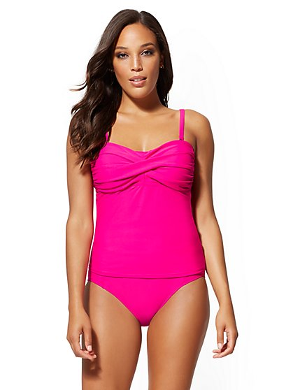 Convertible Tankini Top - NY&C Swimwear - New York & Company