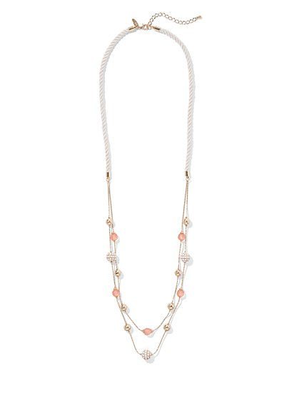 Cord Illusion Necklace - New York & Company