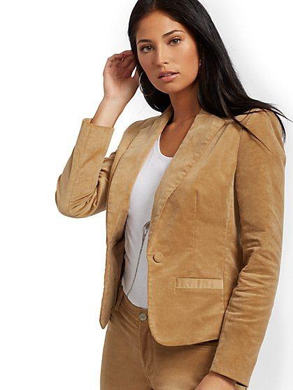 Corduroy One-Button Blazer - New York & Company