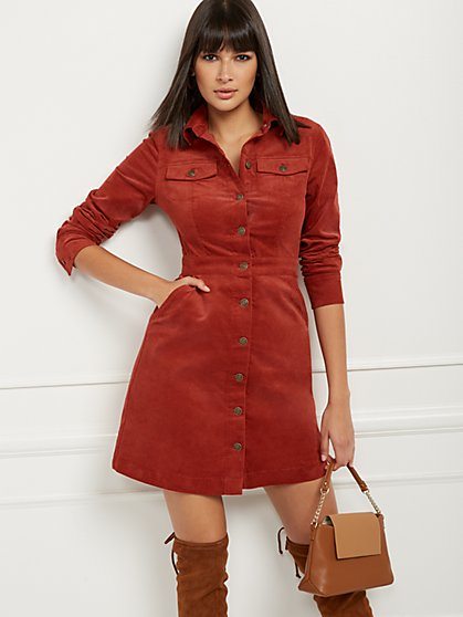 Corduroy Shirtdress - New York & Company