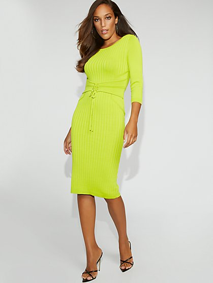 Corset Sweater Dress - Gabrielle Union Collection - New York & Company