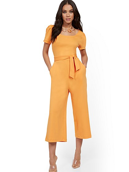 Cotton Knit Culotte Jumpsuit - New York & Company