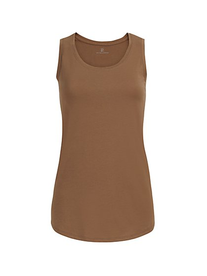 Cotton Scoopneck Tank Top - New York & Company