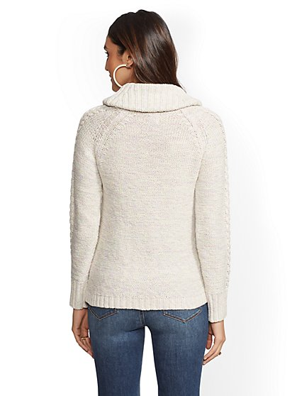 ... Cowl-Neck Cable-Knit Sweater - New York   Company ... 6191782f3