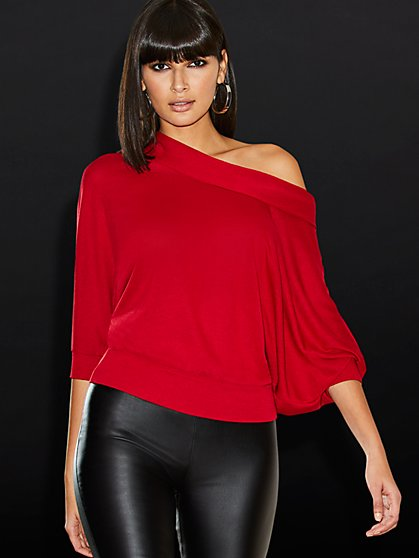 Cowl-Neck Top - Sweet Pea - New York & Company