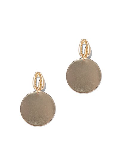 Cowrie-Shell & Disk Drop Earring - New York & Company