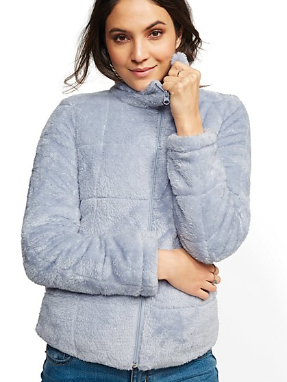 Cozy Sherpa Quilted Jacket - New York & Company