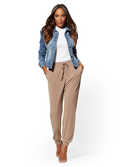 Crepe Jogger Everywhere Pant - Soho Street - New York & Company