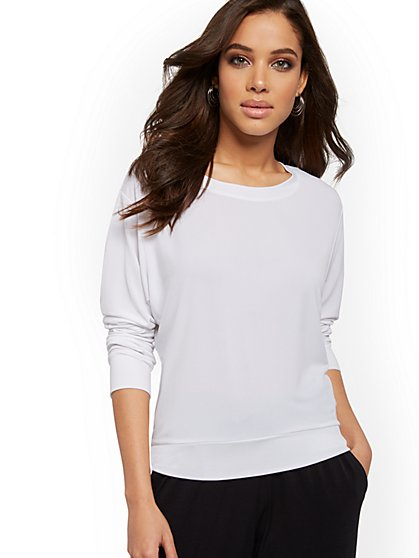 Crepe Scoopneck Top - New York & Company