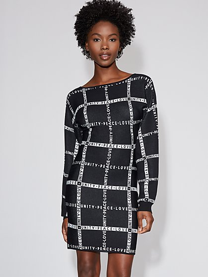 Crisscross-Back Sweater Sheath Dress - Gabrielle Union Collection - New York & Company